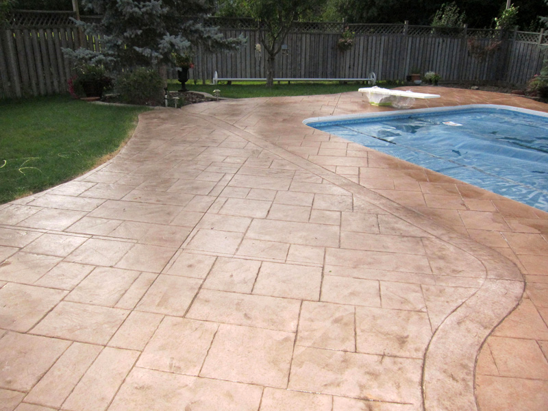 Toronto Driveway Sealing And Patterned Coloured Concrete Sealing